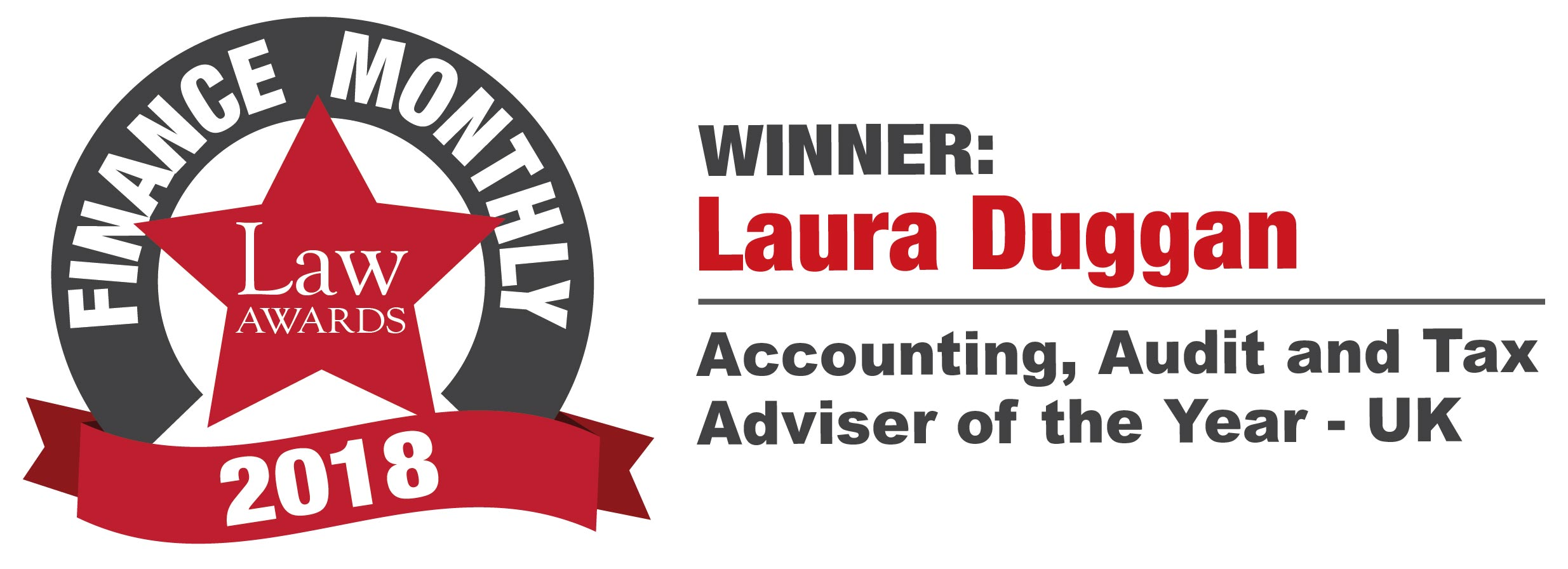 Laura Duggan, Finance Monthly Law Award Winner
